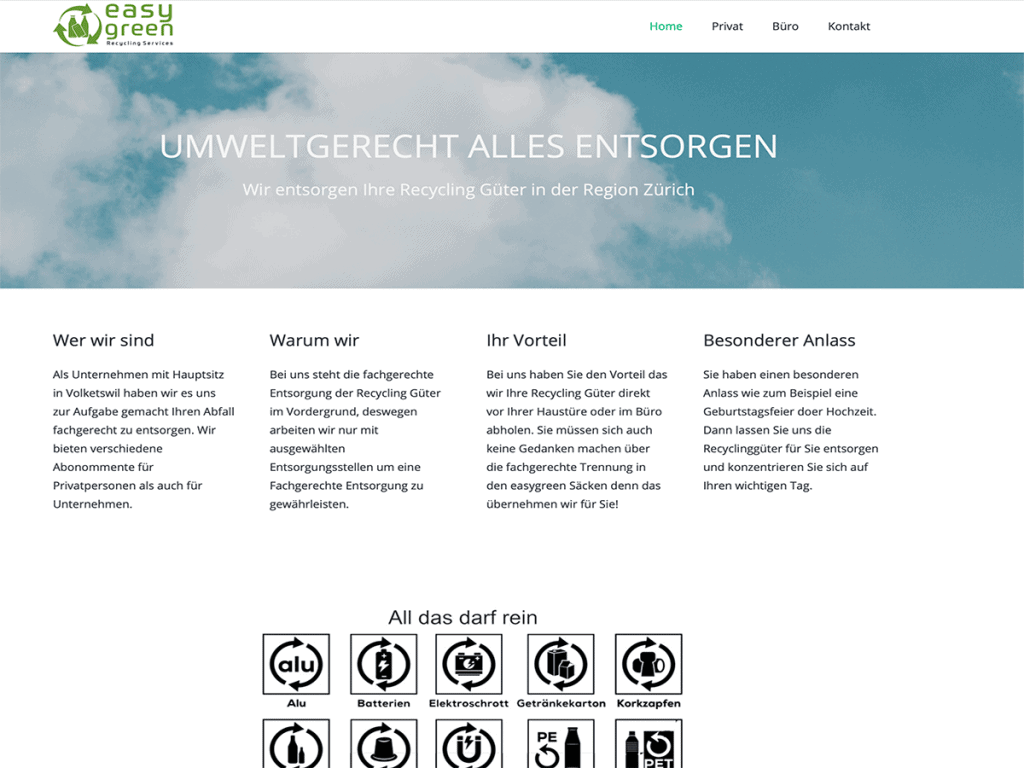 easygreen webgenius Referenz
